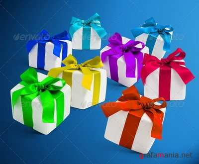 GraphicRiver - 4 Gift Boxes with Shadows Photorealistic - 6272285
