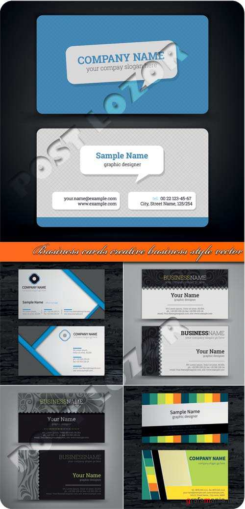 Business cards creative business style vector