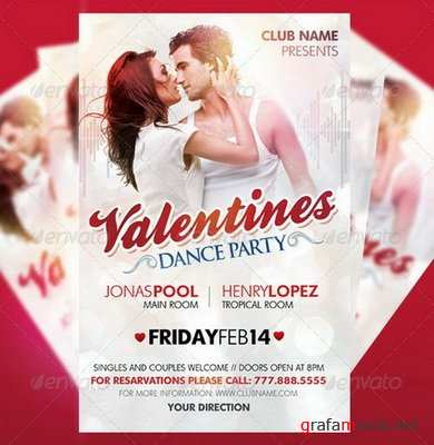 GraphicRiver - Valentines Dance Party Flyer - 1546187