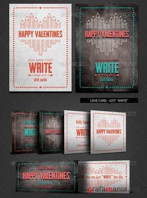GraphicRiver - Valentine Love Card - Just Write for Me - 6500511