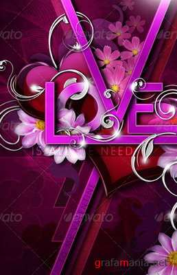 GraphicRiver - LOVE - Valentine's Day Greeting Card Template - 1217743