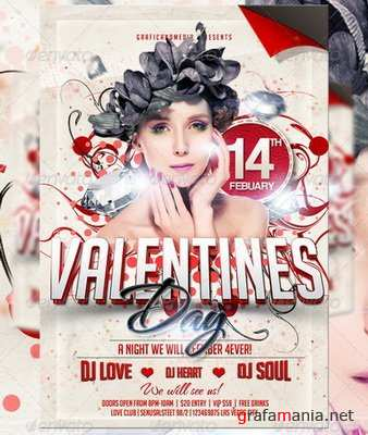GraphicRiver - Valentines Day Flyer Template - 3731131