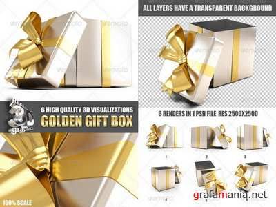 GraphicRiver - Golden Gift Box - 6189651