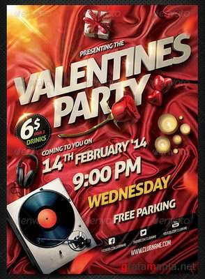 GraphicRiver - Valentine Party Flyer Template - 6527406