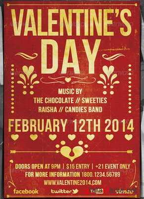 GraphicRiver - Valentine Typography Music Flyer - 6533853