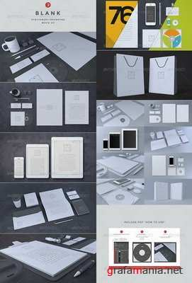 GraphicRiver - Blank Stationery - Branding Mock-Up - 6617098