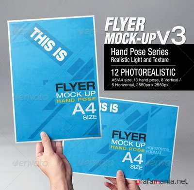 GraphicRiver - Flyer Mock-Up v3 - 6658980