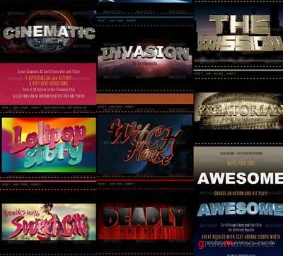 GraphicRiver - 3D Cinematic Text Generator - Actions - 6677643