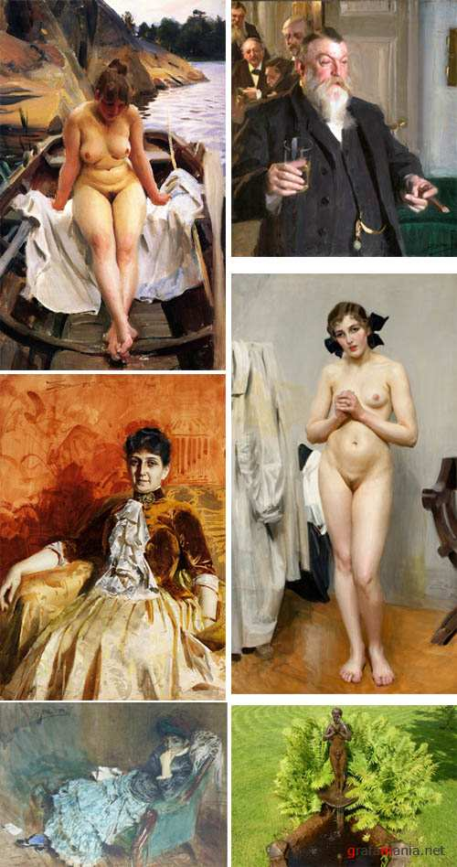 Artworks by Anders Zorn
