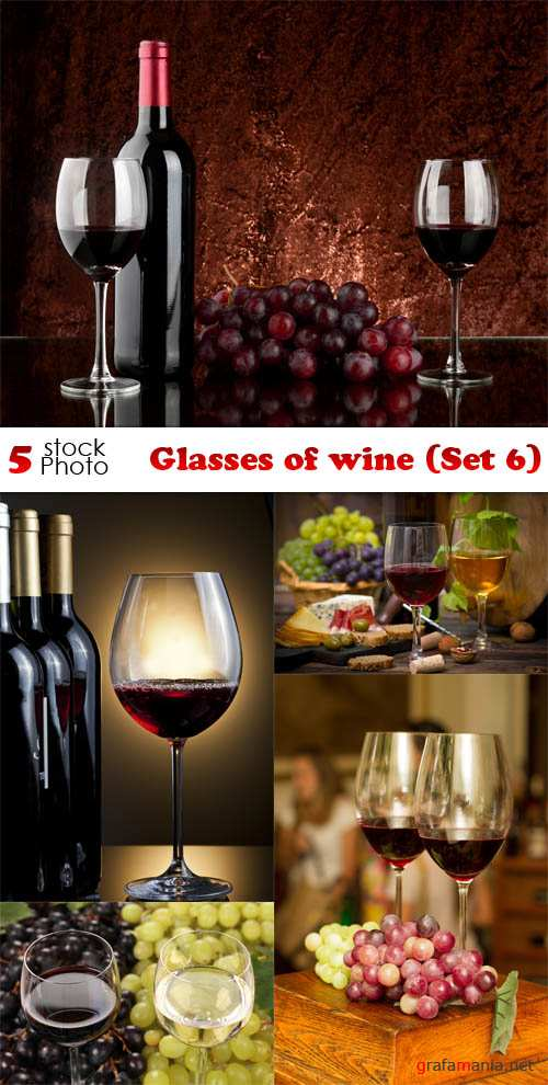 Photos - Glasses of wine (Set 6)
