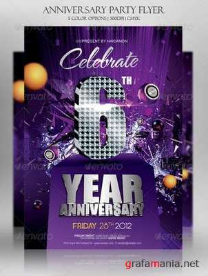 GraphicRiver - Anniversary Party Invitations Flyer