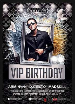 GraphicRiver - VIP Birthday Party flyer - 2703541