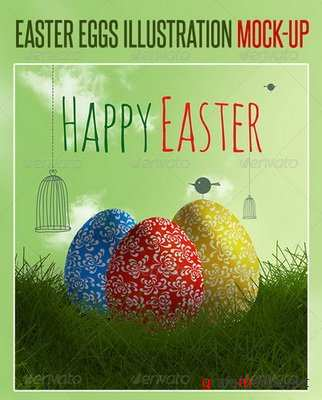GraphicRiver - Easter Eggs Illustration Mock-up - 7098877