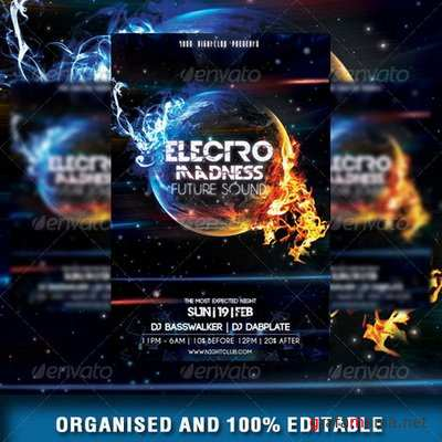 GraphicRiver - Electro Madness Party Flyer Vol3 - 6950675