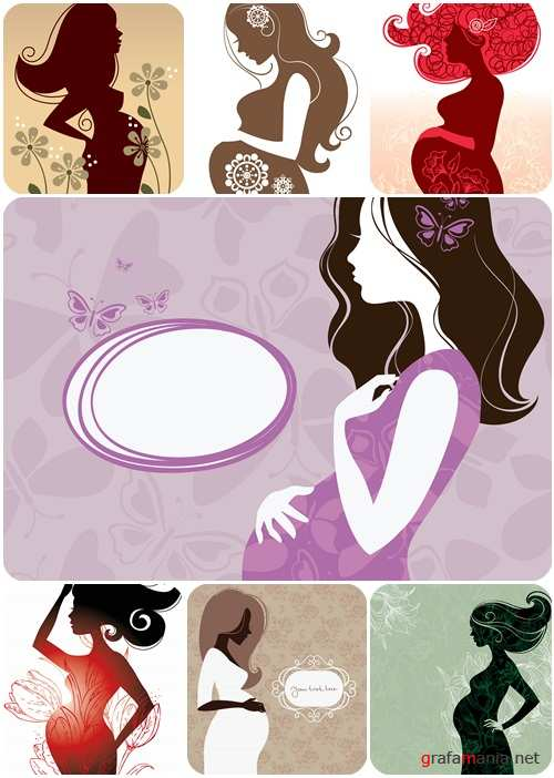 Young pregnant woman - people characters