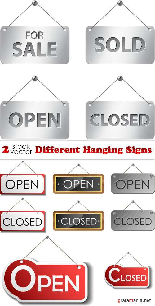 Vectors - Different Hanging Signs