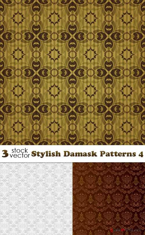 Vectors - Stylish Damask Patterns 4