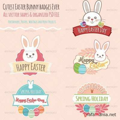 GraphicRiver - Easter Badges - 7383626