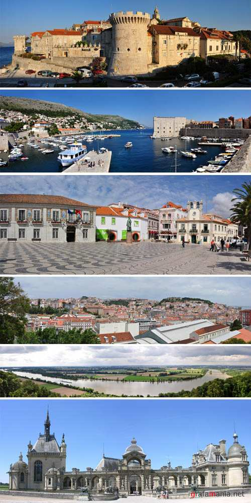 Panoramic Views of Historical Places of Europe