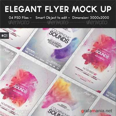 GraphicRiver - Elegant Flyer Mock up