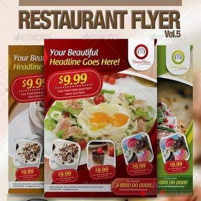 GraphicRiver - Restaurant Flyer Vol.5