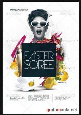 GraphicRiver - Easter Soiree Flyer Template PSD