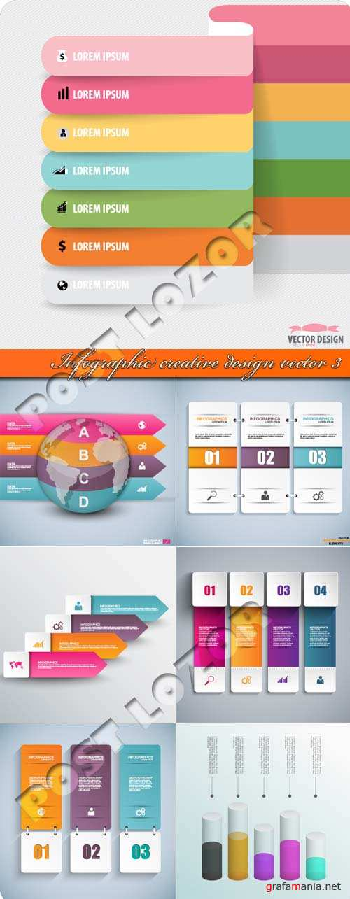 Инфографик креативный дизайн 3 | Infographic creative design vector 3