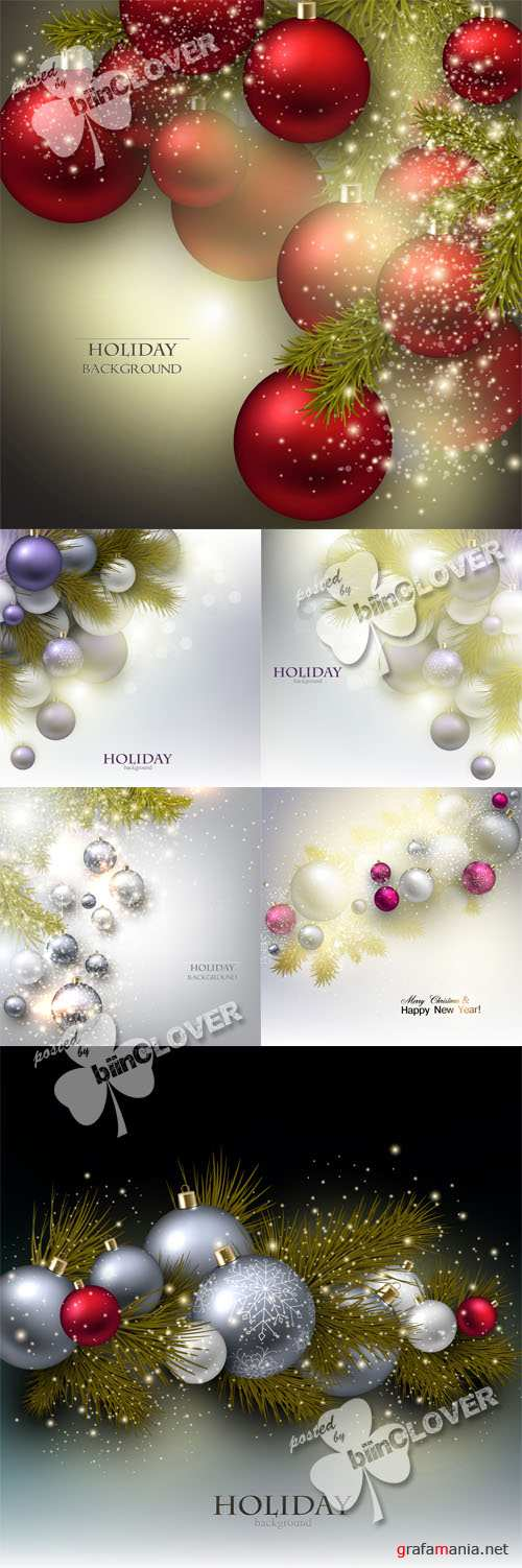 Christmas garland with luxury balls