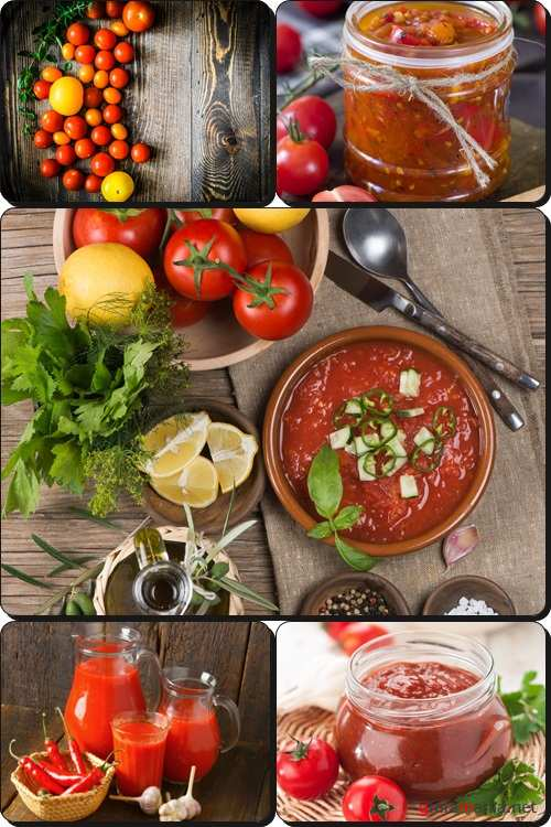 Tomatoes sauce (jam) and spices - Stock photo