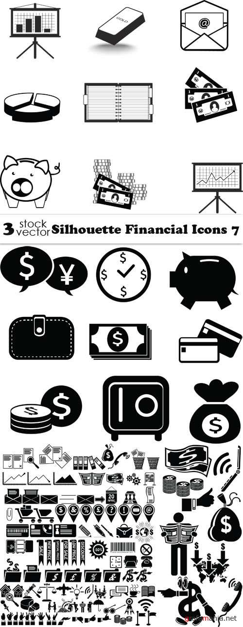 Vectors - Silhouette Financial Icons 7