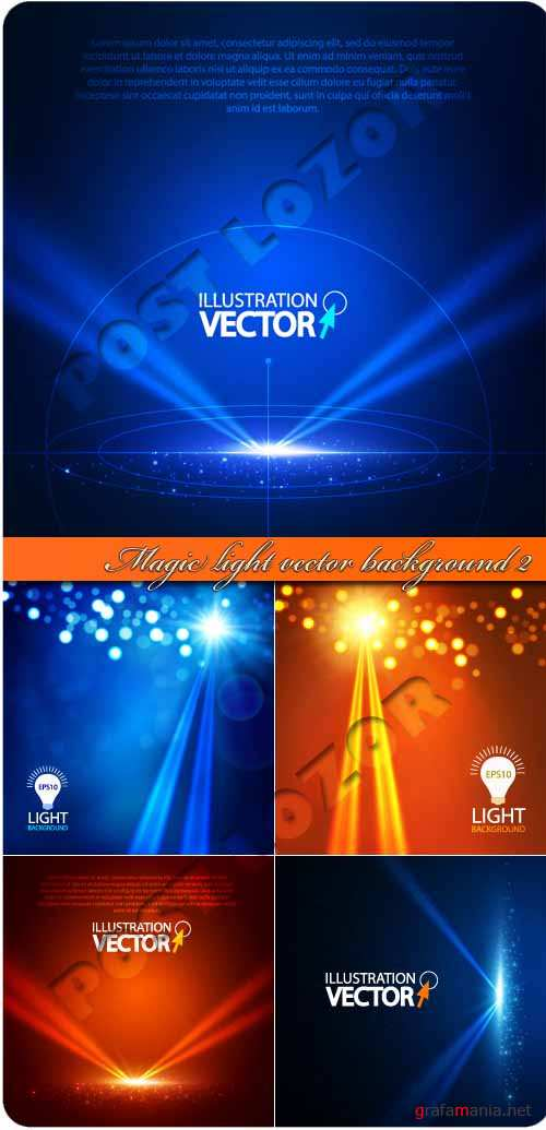 Магия света фоны 2 | Magic light vector background 2