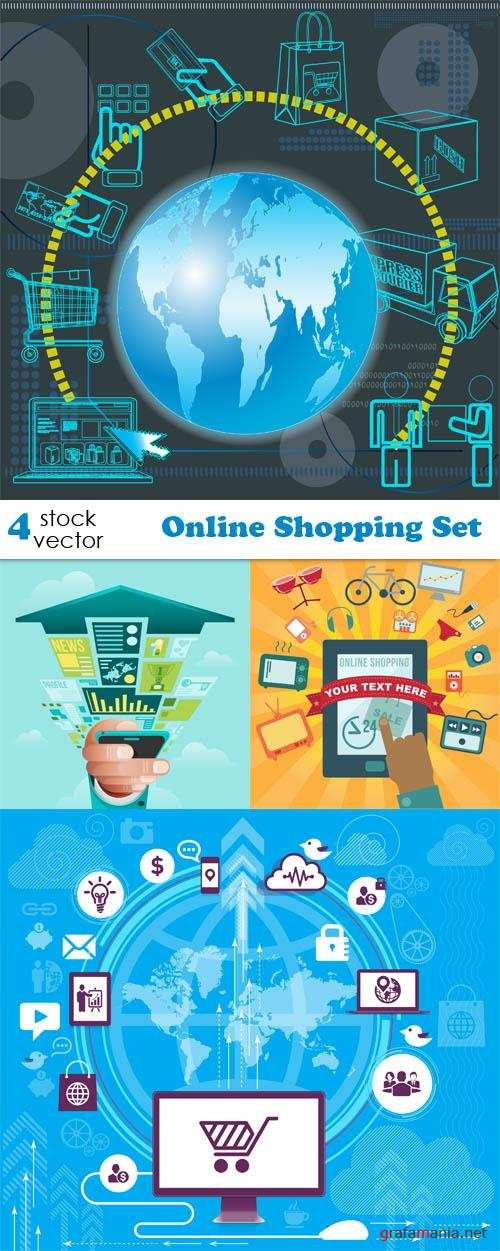 Vectors - Online Shopping Set