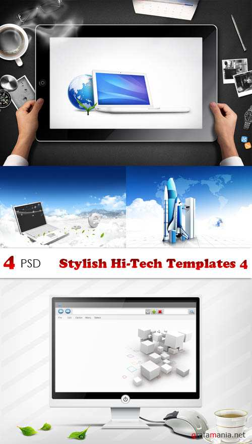 PSD - Stylish Hi-Tech Templates 4
