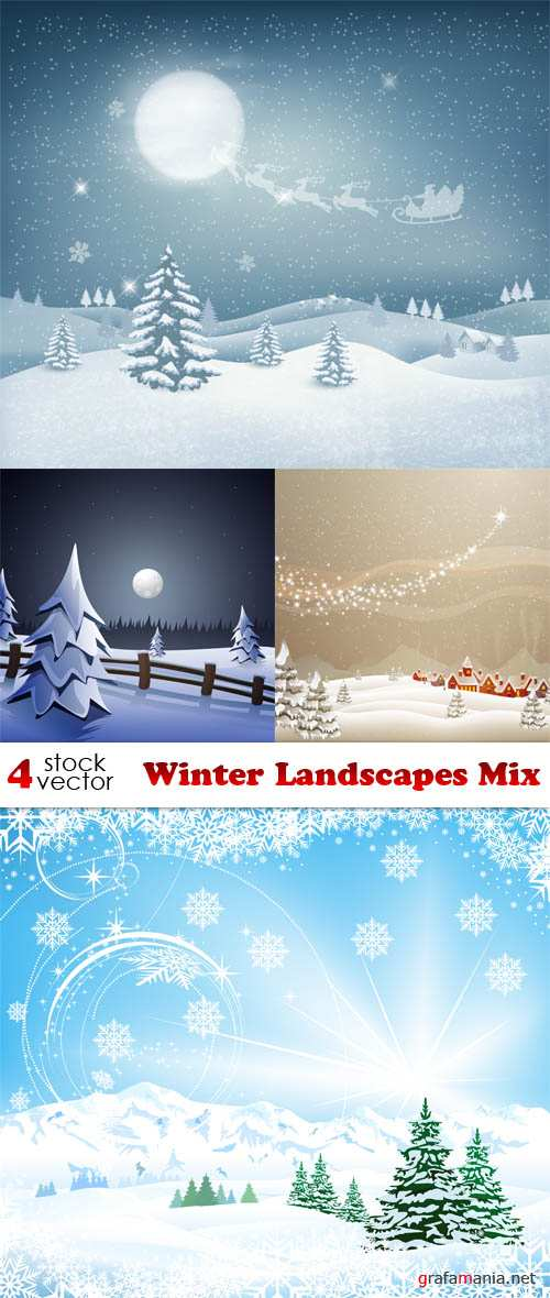 Vectors - Winter Landscapes Mix