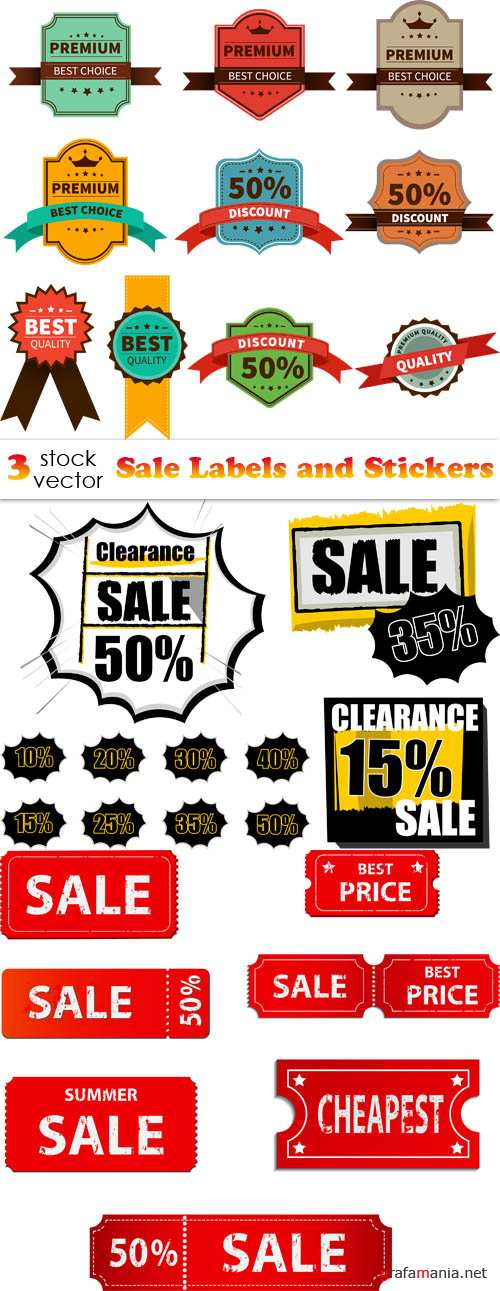 Vectors - Sale Labels and Stickers