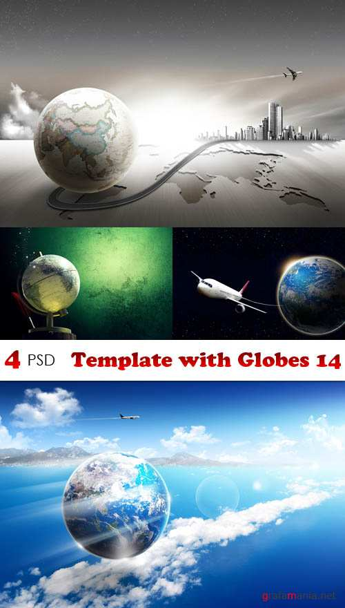 PSD - Template with Globes 14