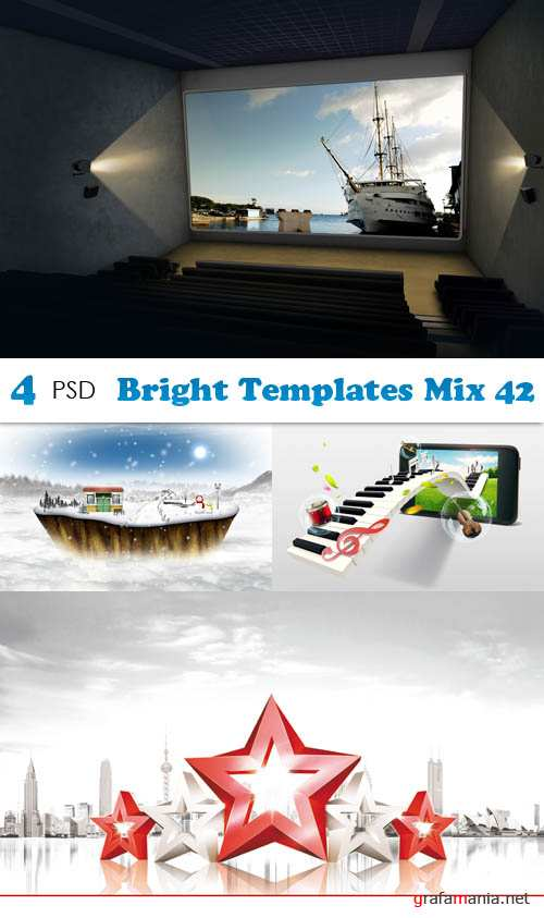 PSD - Bright Templates Mix 42
