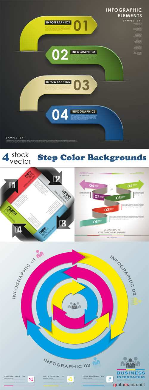 Vectors - Step Color Backgrounds
