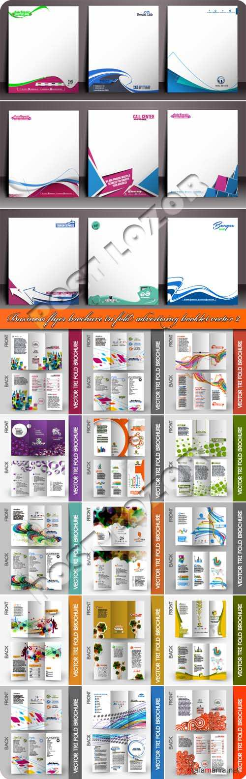 Business flyer brochure tri fold advertising booklet vector 2