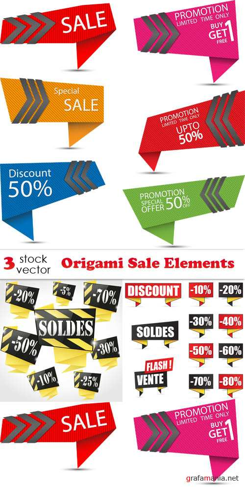 Vectors - Origami Sale Elements