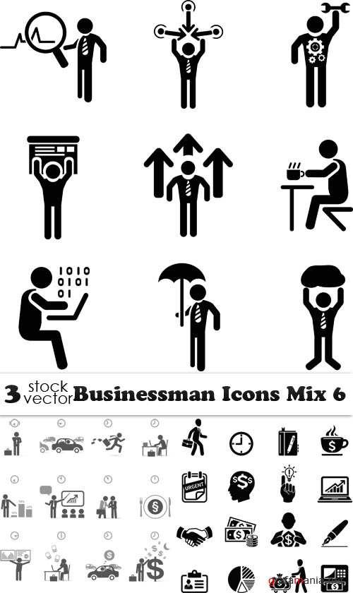 Vectors - Businessman Icons Mix 6