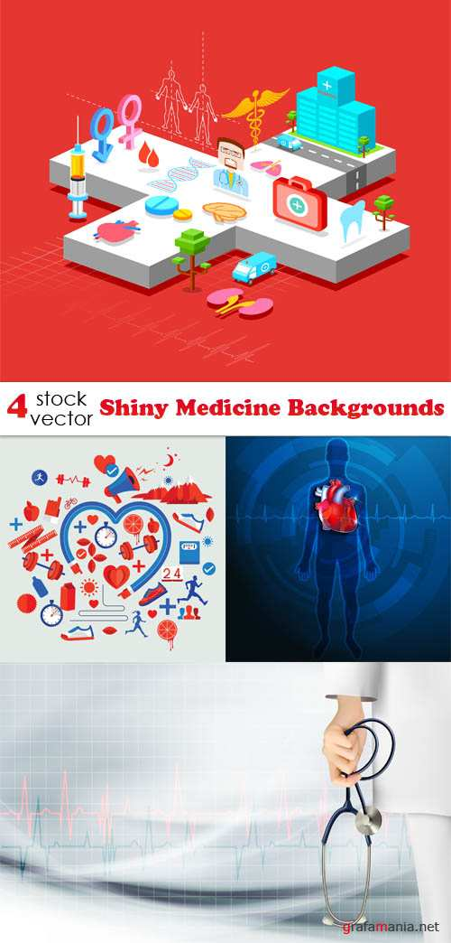 Vectors - Shiny Medicine Backgrounds