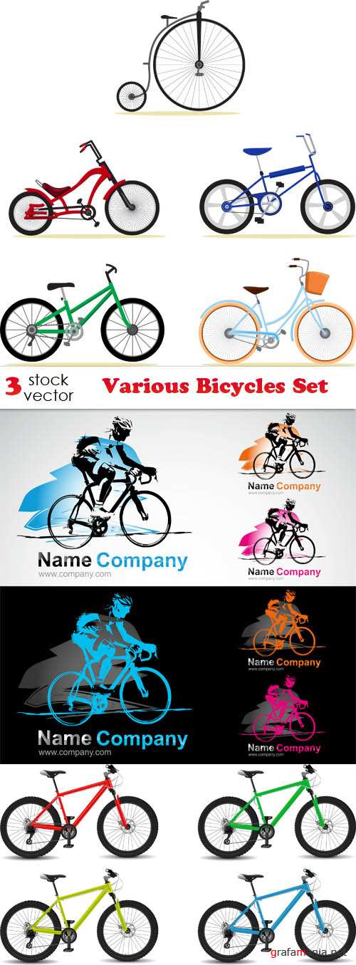 Vectors - Various Bicycles Set