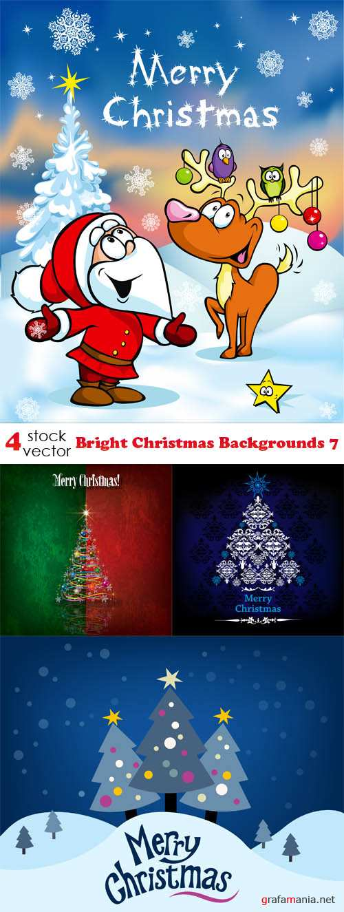 Vectors - Bright Christmas Backgrounds 7