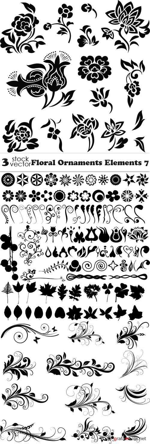 Vectors - Floral Ornaments Elements 7