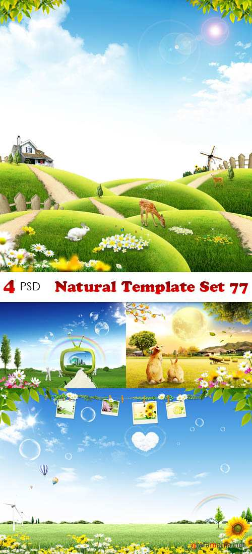 PSD - Natural Template Set 77