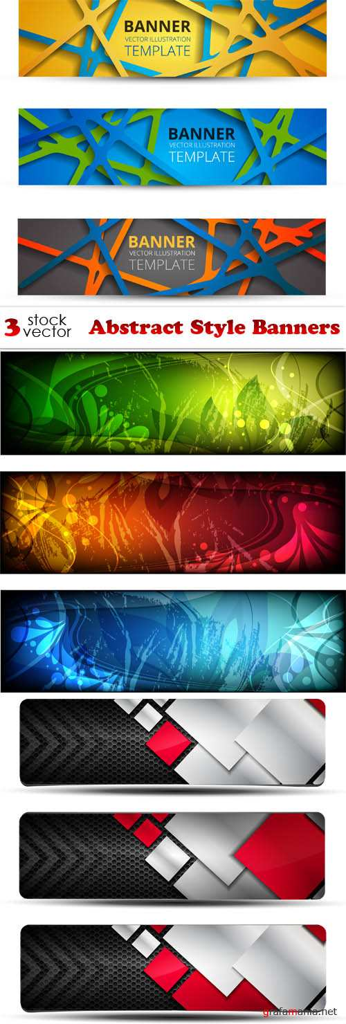 Vectors - Abstract Style Banners