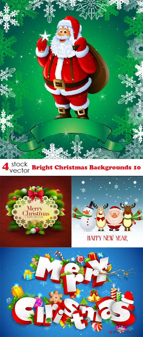 Vectors - Bright Christmas Backgrounds 10