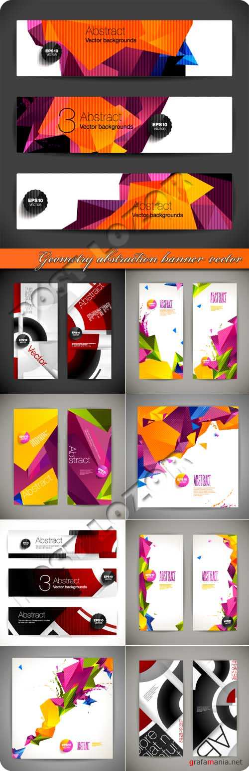 Geometry abstraction banner vector