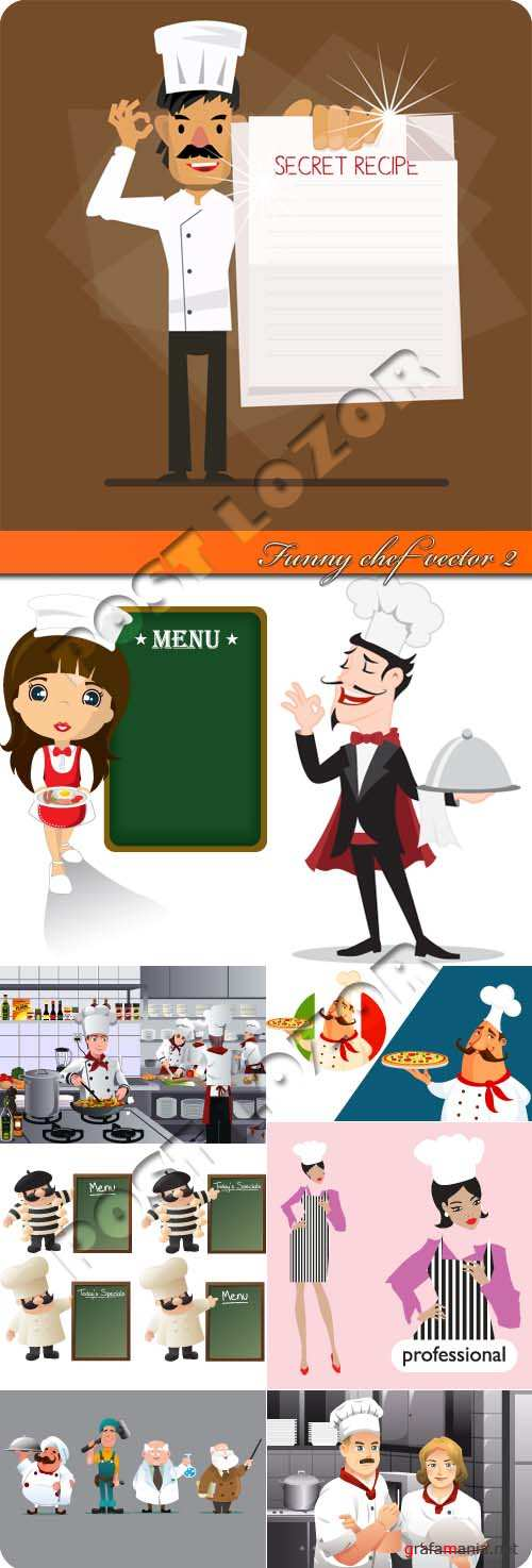 Funny chef vector 2